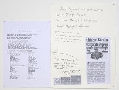 Jimmie Durham, 'Lord Byron's Poem', 2010
