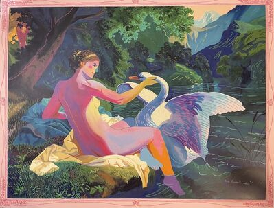 """Andy Dixon, 'Andy Dixon """"Leda And The Swan Painting"""" 24 Color Screen Print Contemporary Art Urban ', 2021"""