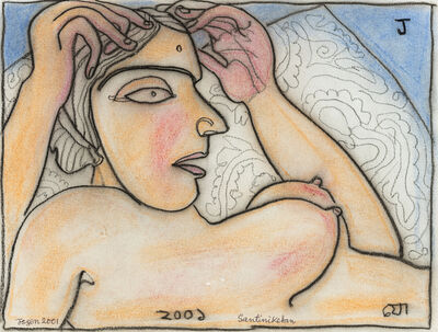 Jogen Chowdhury, 'Woman Reclining on Pillow', 2001