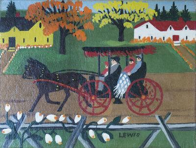 Maud Lewis, 'Autumn Carriage Ride', 1956