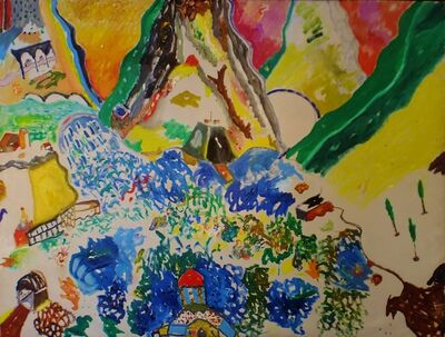 Aristodimos Kaldis, 'Waterfall', 1974