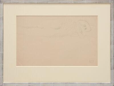 """Gustav Klimt, 'Skizze zu den """"wasserschlangen"""". (Sketch for the """"Water Snakes"""".)', 1919"""