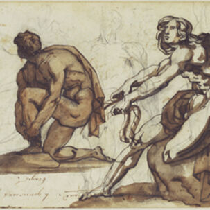 Théodore Géricault, 'Classical Nudes (recto), Classical Statuary (verso)', 1814-1815