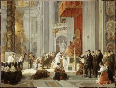 Hortense Lescot, 'Le Baisement des pieds de la statue de saint Pierre dans la basilique Saint-Pierre de Rome (Kissing of the feet of the statue of St. Peter in St. Peter's Basilica in Rome)', 1812