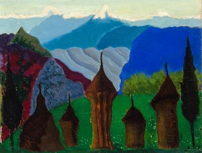 Joseph Stella, 'Landscape with Domes and Towers'