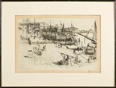 """Frank Duveneck, '""""Riva degli Schiavoni, I""""', ca. 1880"""