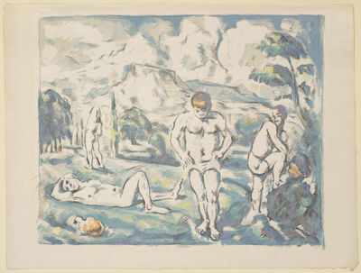 Paul Cézanne, 'The Bathers: Large Plate', 1898