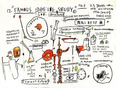 Jean-Michel Basquiat, 'DOG LEG STUDY', 1982