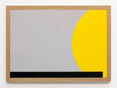 Gerwald Rockenschaub, 'acrylic, frame: oiled oak, 90 x 125 x 5 cm', 2014