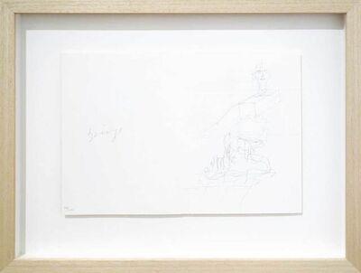 """Joseph Beuys, 'Zeichnungen zu 'Codices Madrid' von Leonardo da Vinci: """"Kopf in Schublade""""', 1975"""