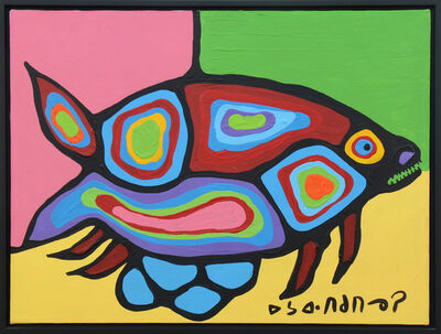Norval Morrisseau, 'Fish with Eggs', 1983