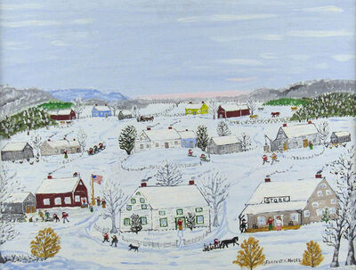 Forrest K. Moses, 'Winter Village', ca. 1960