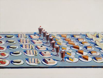 Wayne Thiebaud, 'Salads, Sandwiches, and Desserts', 1962