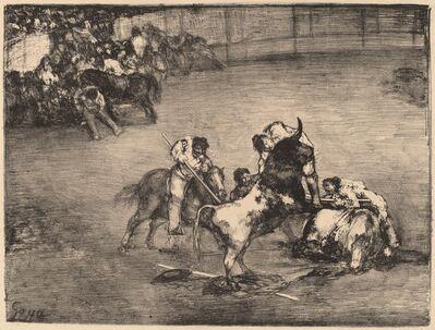 Francisco de Goya, 'Picador Caught by a Bull', 1825