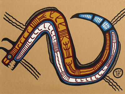 Norval Morrisseau, 'Great Horned Rattlesnake', ca. 1960