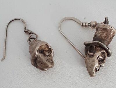 Stephan Bircher, 'VINTAGE MALE + FEMALE HEADS - earrings', 2019
