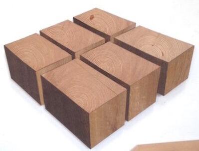 Robert Steng, 'Six Wooden Cubes', 2018