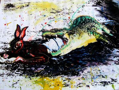 Christof Kohlhöfer, 'Hase und Krokodil', 1994