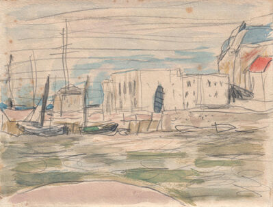Pierre Bonnard, 'The Docks at Deauville Verso: Port Scene', ca. 1925