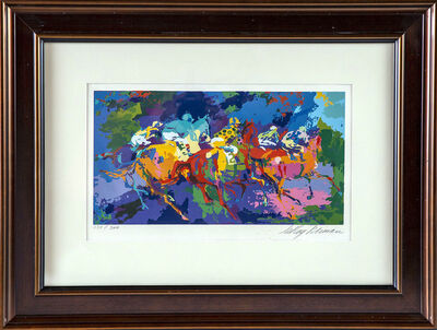 LeRoy Neiman, 'Leroy Neiman The Race Horse Racing Serigraph Contemporary Art', 1973