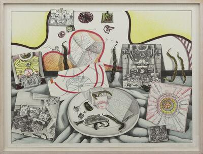 Anna Oppermann, 'Ersatzproblem Bohnen', 1974
