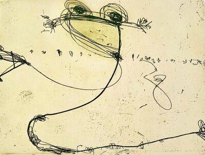 John Olsen (b.1928), 'Billabong (Frog)', 2002