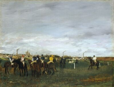 Edgar Degas, 'The Races', 1871-1872