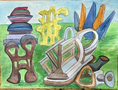 Richard Barnet, 'Garden with Six Sculptures', 2020