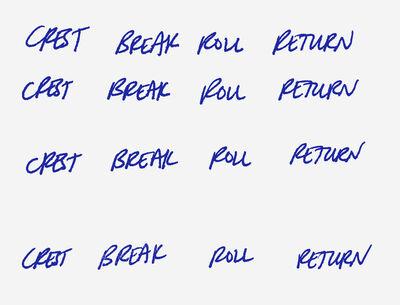 Andrea Longacre-White, 'Crest break roll return', 2015