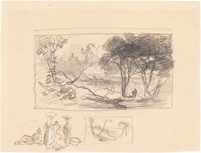 Edward Lear, 'Sketches in Italy [recto]', 1839/1845