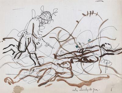 """Antonio Berni, 'Entre los alambres de púas. De la serie """" Guerra de Corea""""', ca. 1965"""