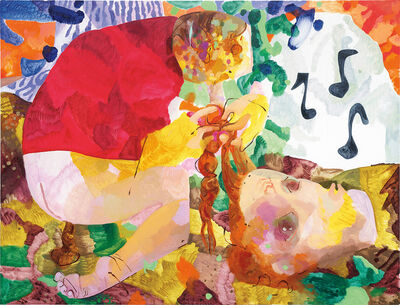 Dana Schutz, 'Crapping, Braiding and Whistling', 2009
