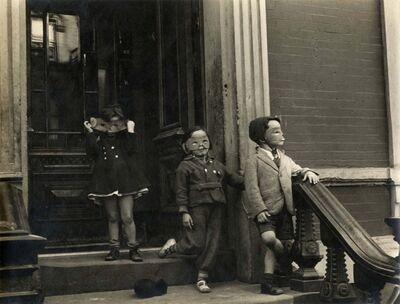 Helen Levitt, 'New York (three kids with masks)', ca. 1945