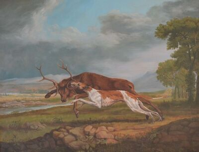 Jonathan Adams, 'Hound Coursing A Stag (George Stubbs)', 2011