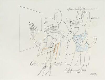 Saul Steinberg, 'Conditioned Reflexer', 1965