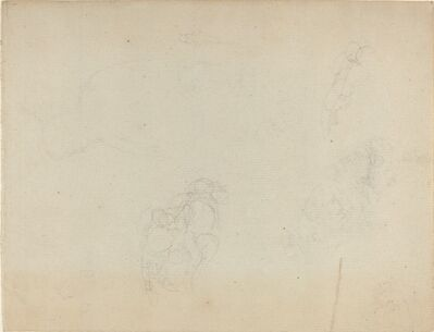 John Flaxman, 'Sheet of Studies [recto and verso]', in or after 1801