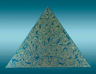 Keith Haring, 'Pyramid, 1989 (#1, Blue)', 1989
