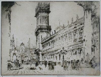 Joseph Pennell, 'Rebuilding the Campanile, No. II, Venice', 1911