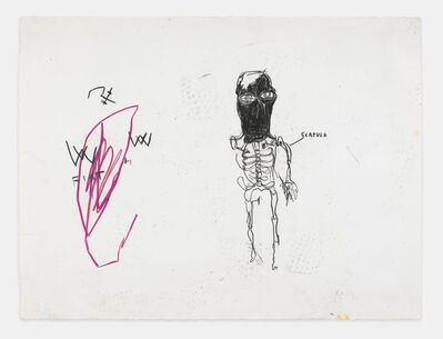 Jean-Michel Basquiat, 'UNTITLED (SCAPULA)', 1983
