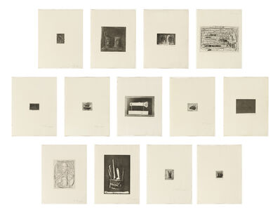 Jasper Johns, '1st Etchings, 2nd State', 1969