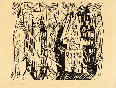 Lyonel Feininger, 'Pariser Hauser (Paris Houses)', 1918