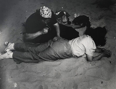 "Weegee, '""Mending"" (Coney Island)', ca. 1940"