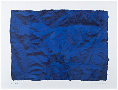 Yves Klein, 'Untitled Blue Planetary Relief (RP6), 1961 (Certified by Yves Klein Archives)', 2015