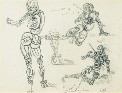 Salvador Dalí, 'Omelette figures ou personnages omelettes', 1934