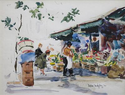 Waldo Park Midgley, 'Italian Market Scene', 1972