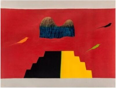 Jagdish Swaminathan, 'Untitled ( Bird, Tree, Mountain)', 1982