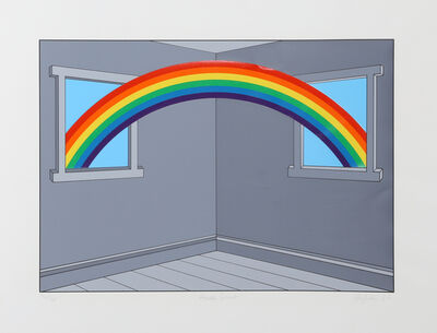 Patrick Hughes, 'House Guest', 1982