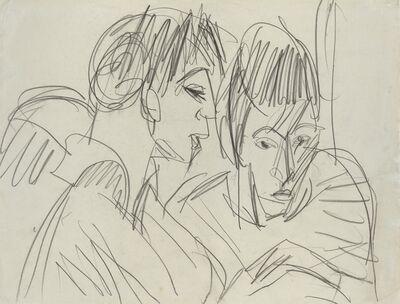 Ernst Ludwig Kirchner, 'Paar / Liegendes Mädchen (verso)', ca. 1912