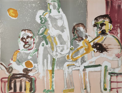 Romare Bearden, 'Tenor Sermon, From Jazz Series', 1979