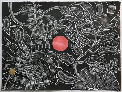 Ting-Tong Chang, 'Bird, Flower, Cosmos and Points #2', 2019